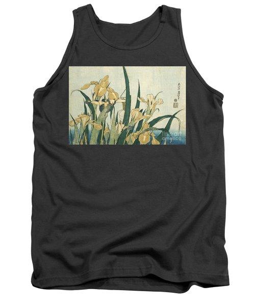 Irises With A Grasshopper Tank Top
