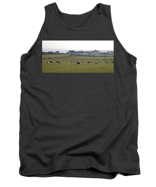 Irish Sheep Farm Tank Top by Henri Irizarri