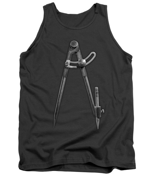 Iron Compass In Bw Tank Top