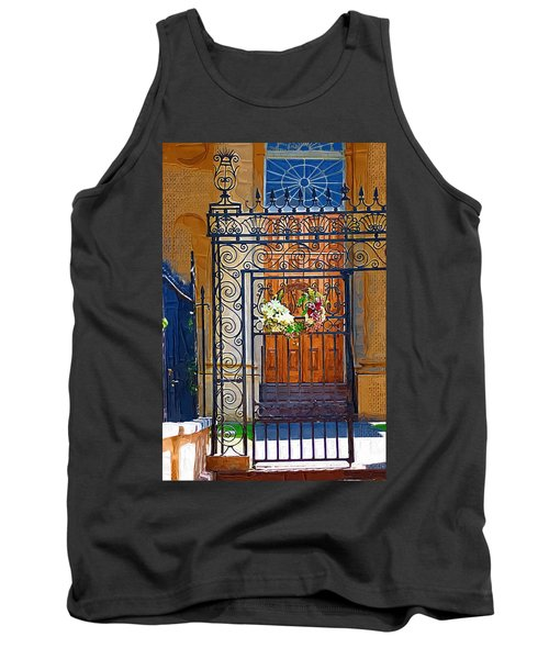 Tank Top featuring the photograph Iron Gate by Donna Bentley