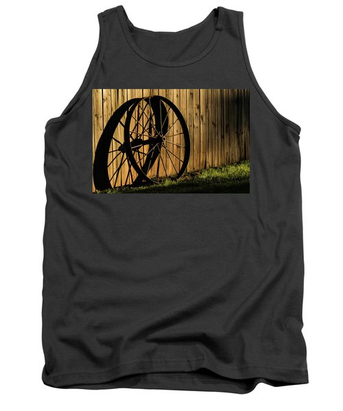 Iron Wheel Tank Top by Jay Stockhaus