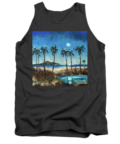 Island Lagoon At Night Tank Top