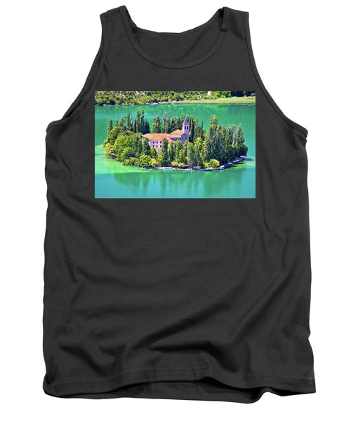 Island Of Visovac Monastery In Krka  Tank Top by Brch Photography