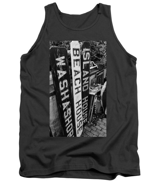 Island Signage Tank Top by JAMART Photography