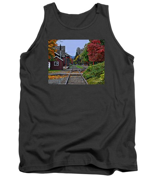 Issaquah Train Station Tank Top by Kirt Tisdale