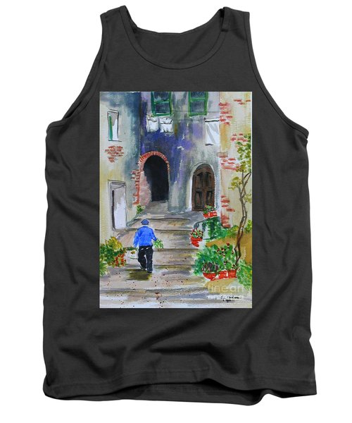 Italian Alleyway Tank Top by Lynda Cookson