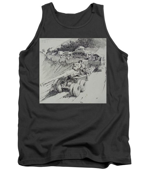 Tank Top featuring the drawing Italy 1943. by Mike Jeffries
