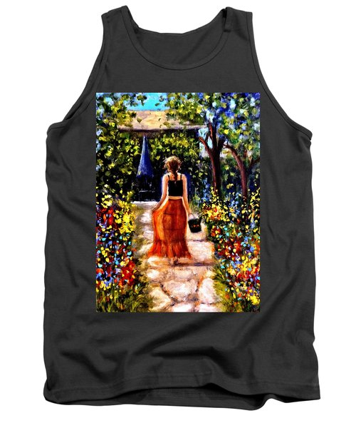 Tank Top featuring the painting It's A Beautiful Day.. by Cristina Mihailescu