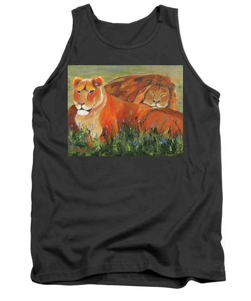 Tank Top featuring the painting It's Good To Be King by Jamie Frier
