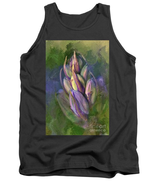 Tank Top featuring the digital art Itty Bitty Baby Bluebells by Lois Bryan