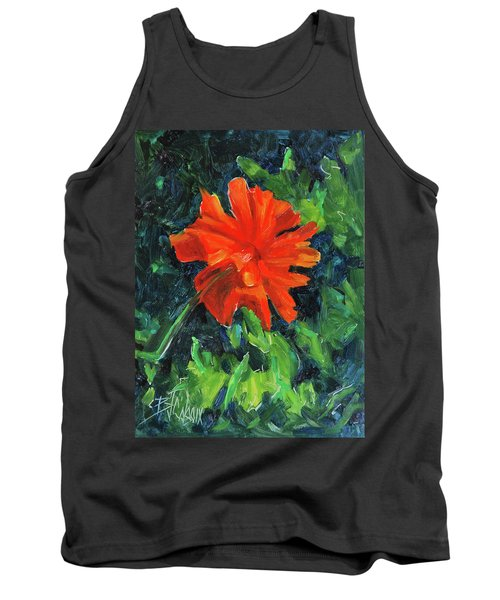 Tank Top featuring the painting I've Got My Red Dress On by Billie Colson