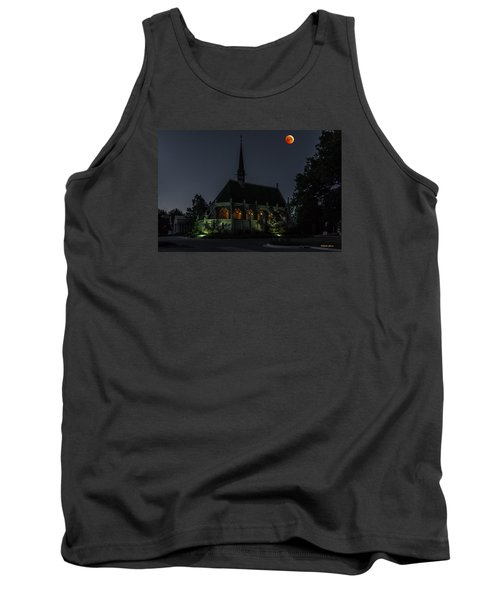 Ivy Chapel Under The Blood Moon Tank Top by Stephen  Johnson