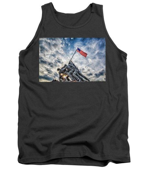 Iwo Jima Memorial Tank Top by Susan Candelario
