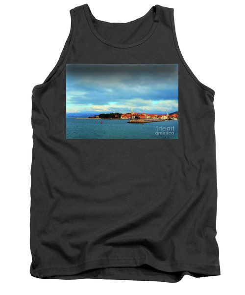 Tank Top featuring the photograph Izola From The Marina by Graham Hawcroft pixsellpix