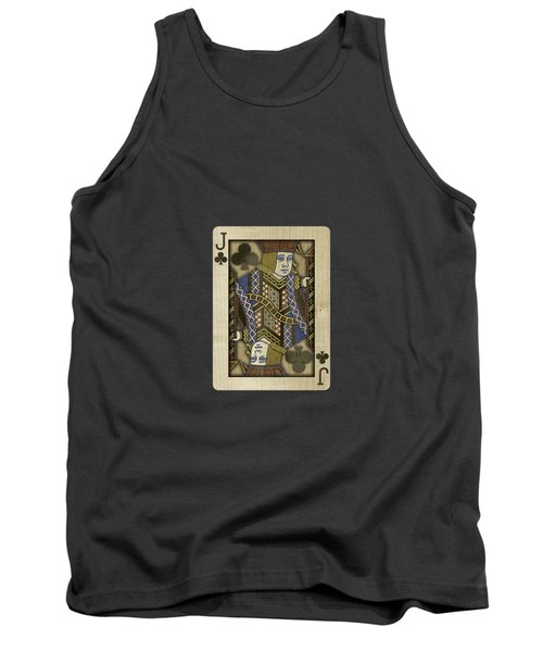 Jack Of Clubs In Wood Tank Top