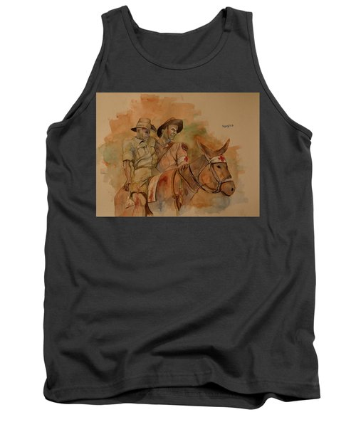 Tank Top featuring the painting Jack Simpson And Duffy by Ray Agius