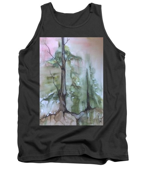 Tank Top featuring the painting Jackfish Lake by Pat Purdy