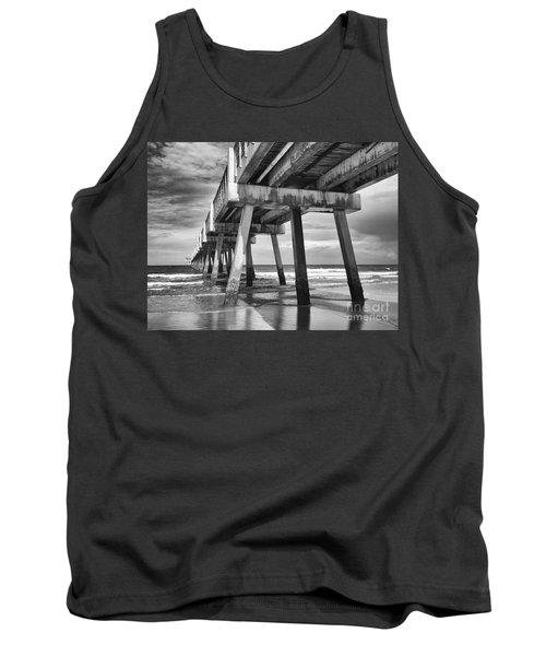 Jacksonville Beach Florida Usa Pier Tank Top by Vizual Studio