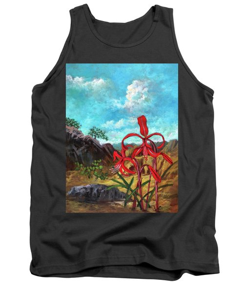 Jacobean Lily Of Mexico Tank Top