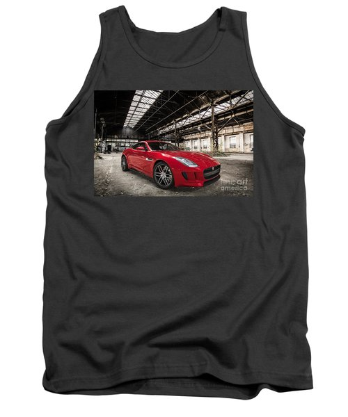 Jaguar F-type - Red - Front View Tank Top