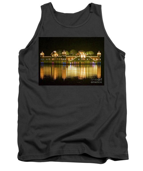 Jal Palace At Night Tank Top by Michael Cinnamond