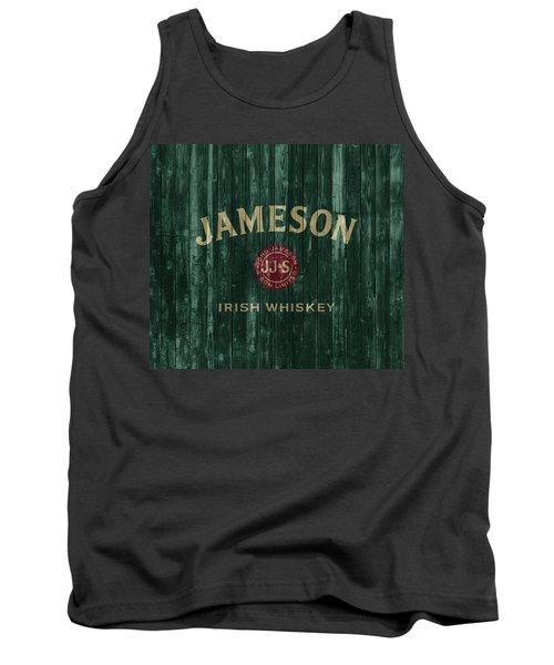 Tank Top featuring the mixed media Jameson Irish Whiskey Barn Door by Dan Sproul