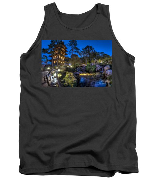 Japan Epcot Pavilion By Night. Tank Top