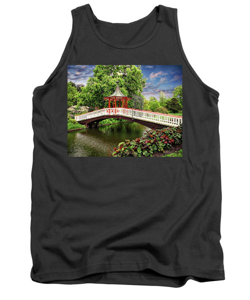 Japanese Bridge Garden Tank Top