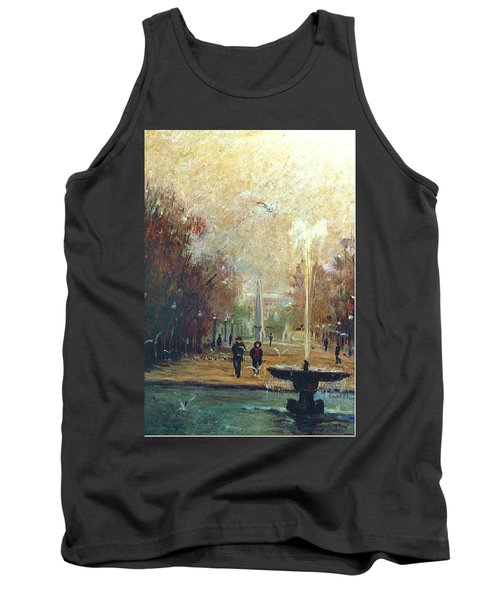 Tank Top featuring the painting Jardin Des Tuileries by Walter Casaravilla