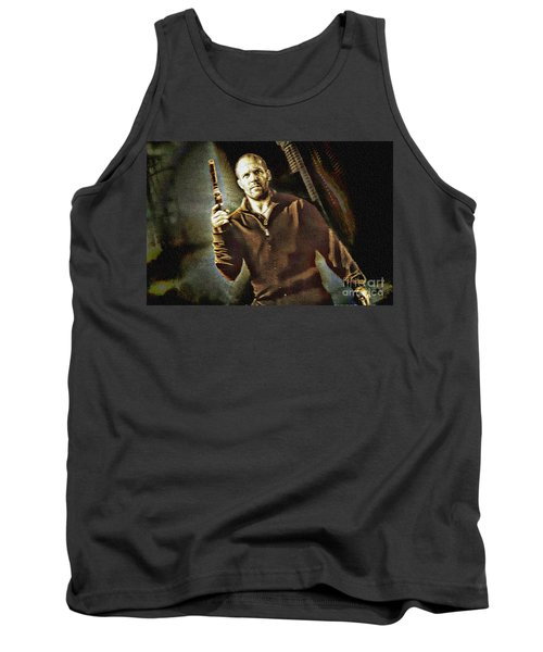 Jason Statham - Actor Painting Tank Top
