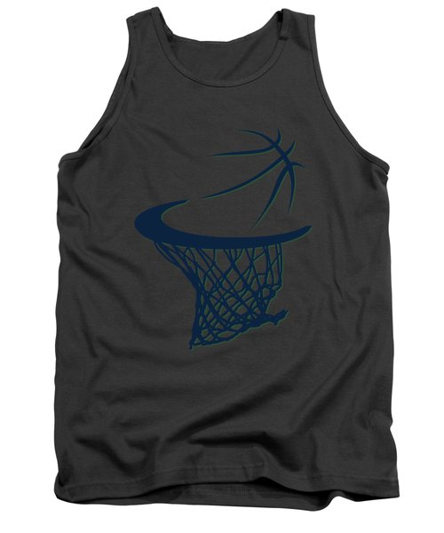 Jazz Basketball Hoop Tank Top by Joe Hamilton