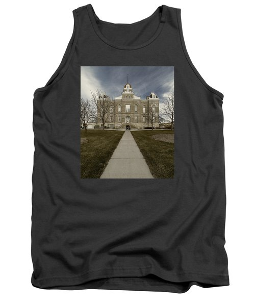 Jefferson County Courthouse In Fairbury Nebraska Rural Tank Top
