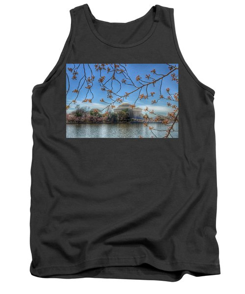 Jefferson Memorial - Cherry Blossoms Tank Top by Marianna Mills