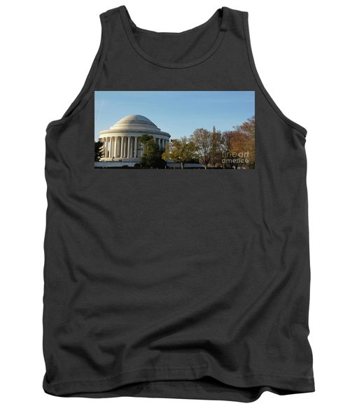 Jefferson Memorial Tank Top by Megan Cohen