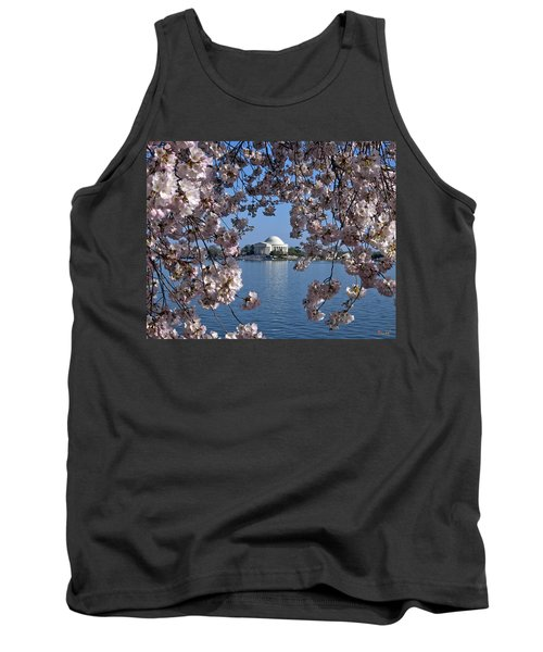 Jefferson Memorial On The Tidal Basin Ds051 Tank Top by Gerry Gantt