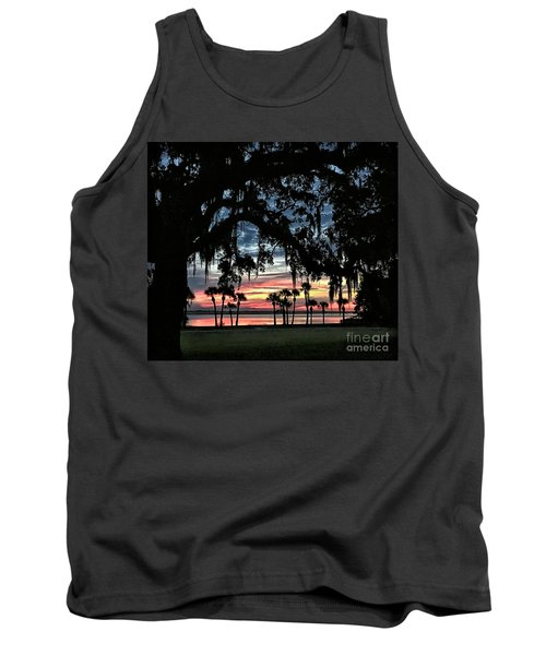 Jekyll Island Georgia Sunset Tank Top