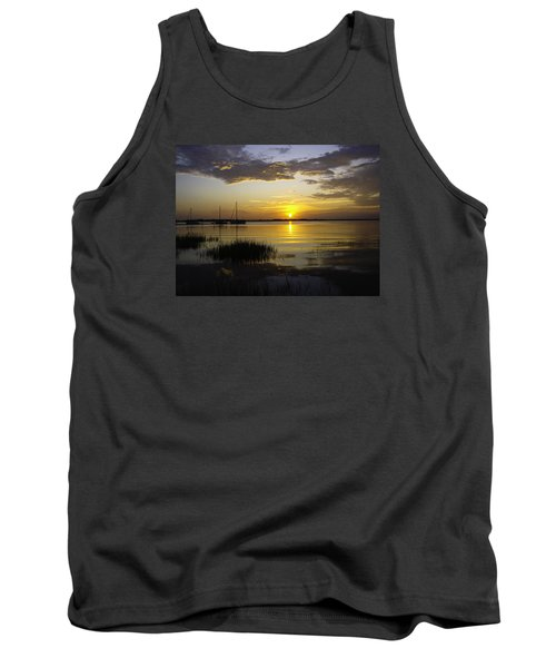 Jekyll Island Sunset Tank Top by Elizabeth Eldridge