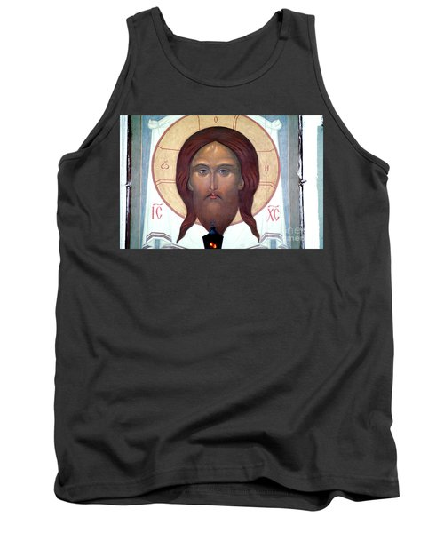 Jesus Icon At The Trinity Lavra Of St. Sergius Monastery In Sergiev Posad Tank Top by Wernher Krutein