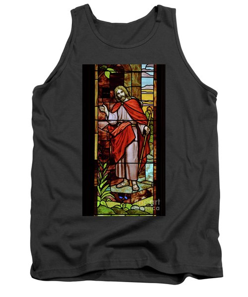Tank Top featuring the photograph Jesus Knocking by Debby Pueschel