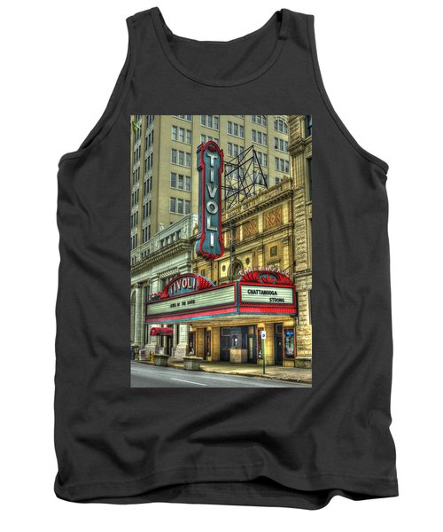 Jewel Of The South Tivoli Chattanooga Historic Theater Tank Top by Reid Callaway