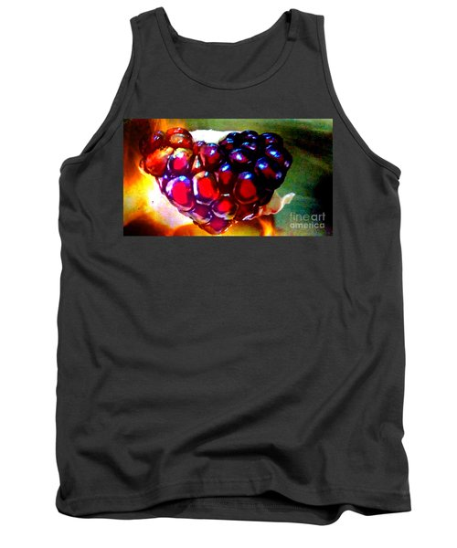 Tank Top featuring the painting Jeweled Heart In Light And Dark by Genevieve Esson