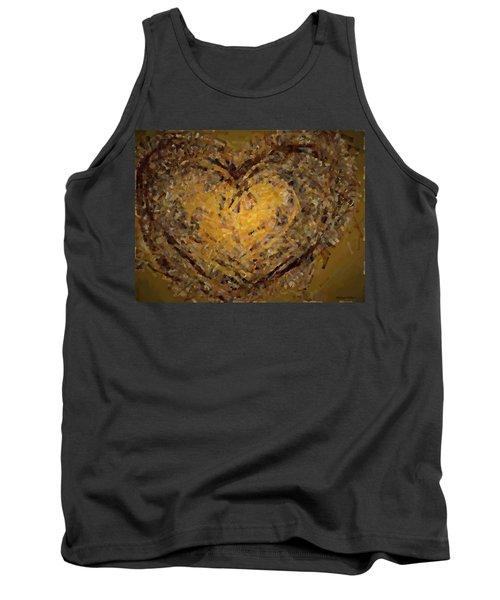 Jeweled Heart Tank Top