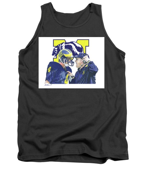 Jim Harbaugh And Bo Schembechler Tank Top by Chris Brown