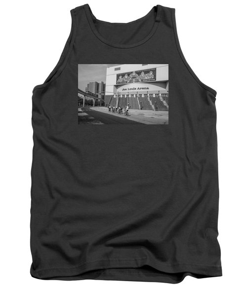Joe Louis Arena Black And White With Bikers Tank Top