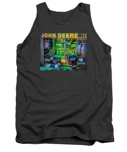 Tank Top featuring the photograph John Deere Engine by Trey Foerster