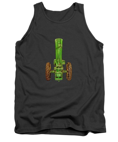 Tank Top featuring the photograph John Deere Top On Black by YoPedro