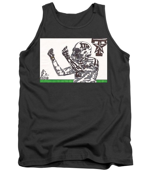 Johnny Manziel 10 Change The Play Tank Top by Jeremiah Colley