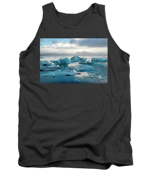 Tank Top featuring the photograph Jokulsarlon, The Glacier Lagoon, Iceland 6 by Dubi Roman