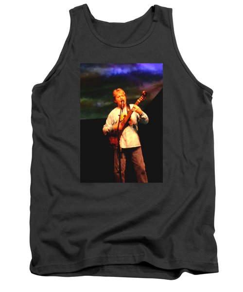 Tank Top featuring the photograph Jon Anderson Of Yes by Melinda Saminski