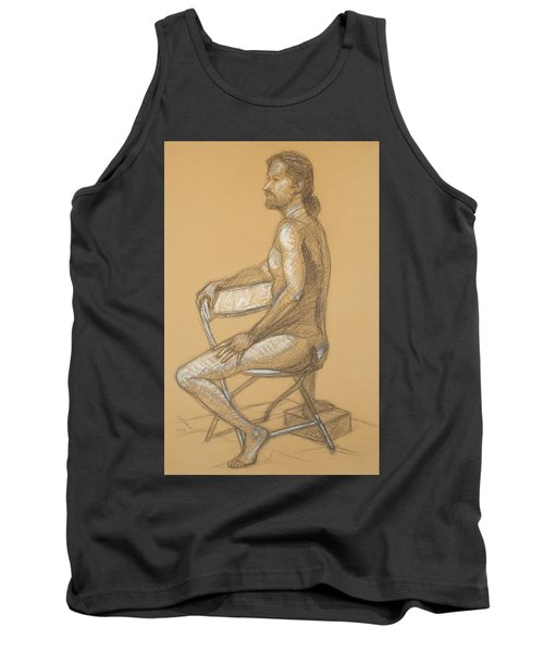 Joseph - Seated Tank Top by Donelli  DiMaria